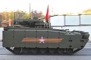Kurganets-25 Kurganets AIFV armoured infantry fighting vehicle technical data sheet specifications information description pictures photos images video intelligence identification Russia Russian Military army defence industry military technology equipment