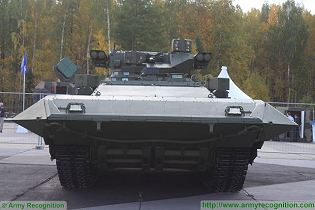 T-15 BMP Armata AIFV tracked armoured infantry fighting vehicle Russia Russian army front side view 003