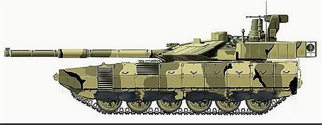 Armata main battle tank Russia Russian defence industry military technology line drawing 001