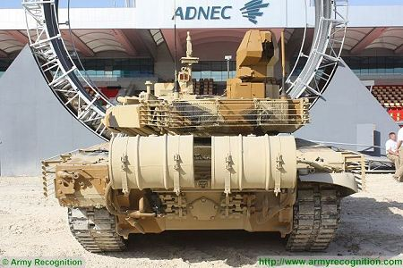 T 90MS MBT Main Battle Tank Russia Russian army defense industry rear view 450 002