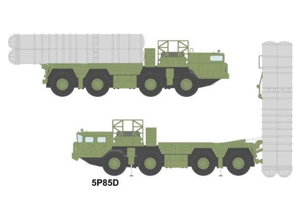 5P85D S-300 PS SA-10B Grumble B long range surface-to-air missile technical data sheet information description pictures photos images intelligence identification Russian army Russia launcher vehicle