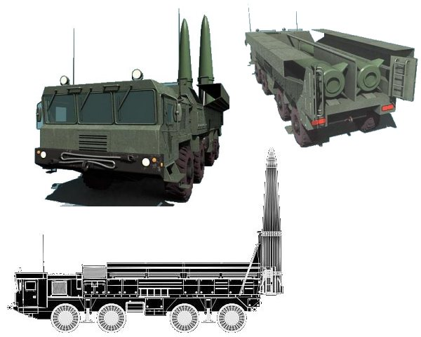 Iskander SS 26 Stone tactical missile system Russia Russian army line drawing blueprint