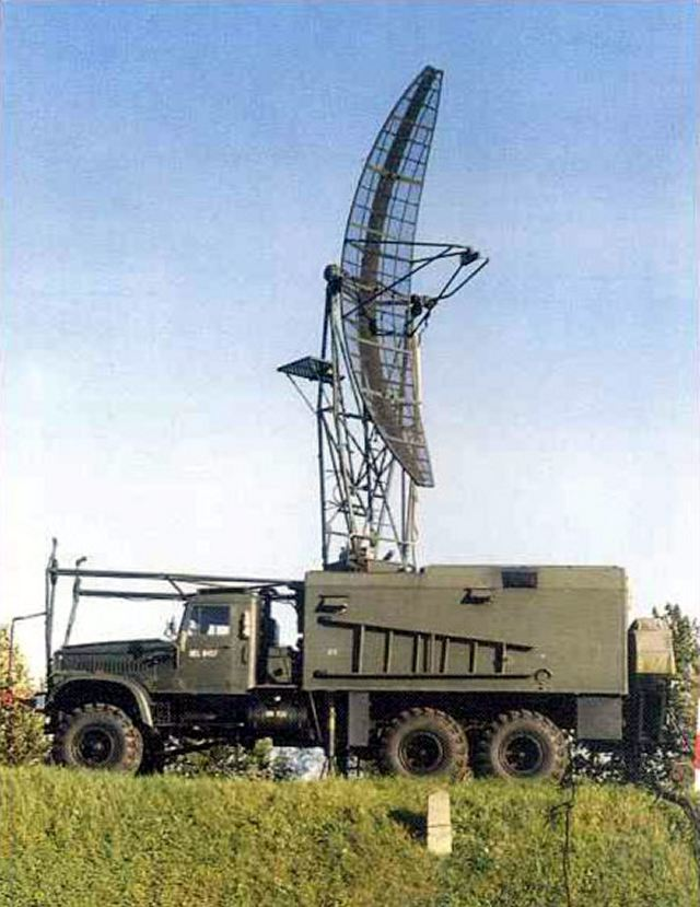 PRV-9 1RL19 Thin Skin Radar E Band heigh finding technical data sheet specifications information description pictures photos images video intelligence identification Russia Russian Military army defence industry military technology equipment
