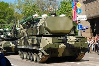 SA 17 Buk M2 9K37M2 surface to air defense missile system Russia Russian army defense industry rear side view 001