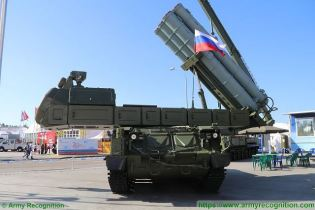 Buk M3 Viking SAM medium range surface to air defense missile system Russia Russian army front view 001