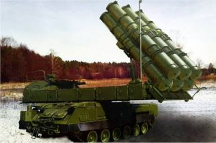 Buk M3 Viking SAM medium range surface to air defense missile system Russia Russian army left side view 002