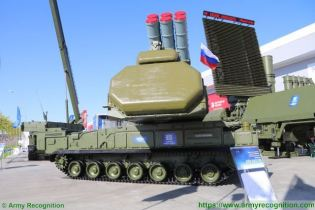 Buk M3 Viking SAM medium range surface to air defense missile system Russia Russian army right side view 001