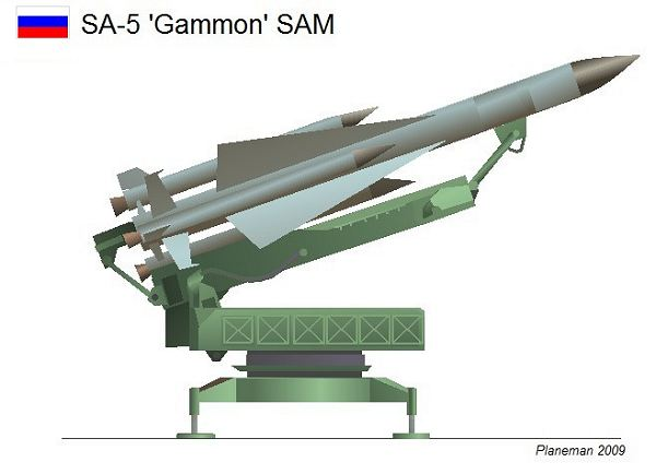 SA 5 Gammon S 200 Angara Vega Russia Russian low to high altitude ground to air missile system blueprint 001