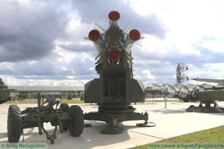 SA 5 Gammon S 200 Angara Vega Russia Russian low to high altitude ground to air missile system rear view 002