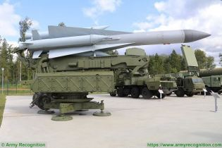 SA 5 Gammon S 200 Angara Vega Russia Russian low to high altitude ground to air missile system right side view 002