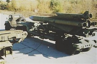 SA 5 Gammon S 200 Angara Vega Russian Russia low to high altitude ground surface to air missile system left side view 002