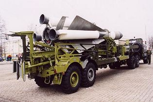 SA 5 Gammon S 200 Angara Vega Russian Russia low to high altitude ground surface to air missile system right side view 002
