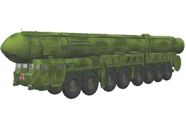 SS 25 Sickle rt 2pm Topol rs 12m ballistic missile truck MAZ 7917 Russian Army Russia line drawing 001