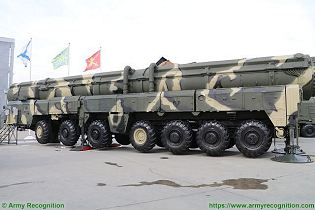 Topol SS 25 Sickle RS 12M RT 2PM ICBM InterContinental Ballistic Missile Russia Russian army left side view 001