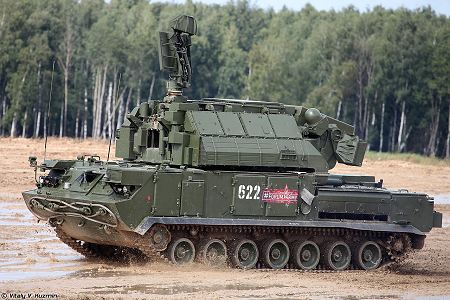 TOR M2 SA 15D short range surface to air defense misssile system Russia Russian army left side view 001