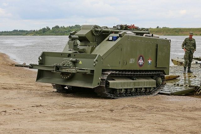URAN-14 robotic mine clearance and firefighting tracked vehicle system Russia Russian army military equipment 640 001