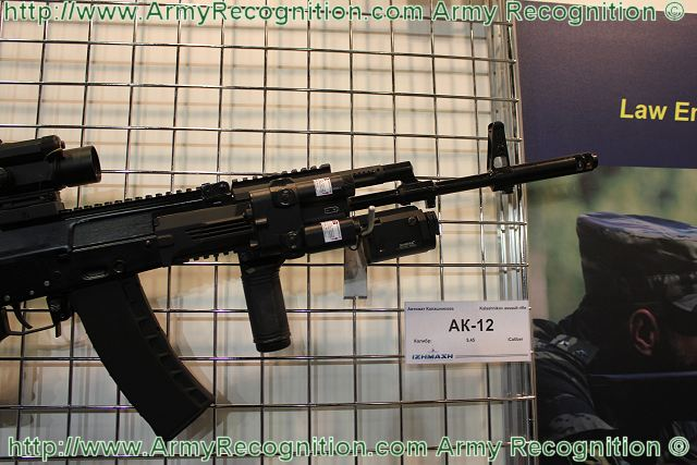 AK-12 Kalashnikov Izhmash assault rifle technical data sheet specifications information description pictures photos images video intelligence identification Russia Russian army defence industry military technology