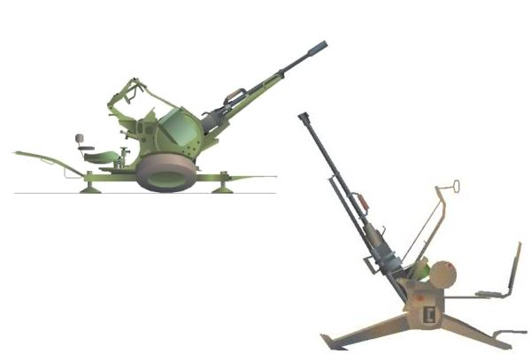 ZPU-1 14.5 mm anti-aircraft single gun technical data sheet specifications information description pictures photos images identification intelligence Russia Russian army defence industry
