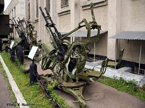 ZPU-2 14.5 mm anti-aircraft twin guns technical data sheet specifications information description pictures photos images identification intelligence Russia Russian army defence industry