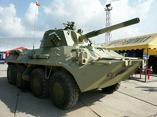 2S23 Nona-SVK 120mm wheeled self-propelled mortar carrier technical data sheet specifications information description pictures photos images intelligence identification intelligence Russia Russian army defence industry military technology
