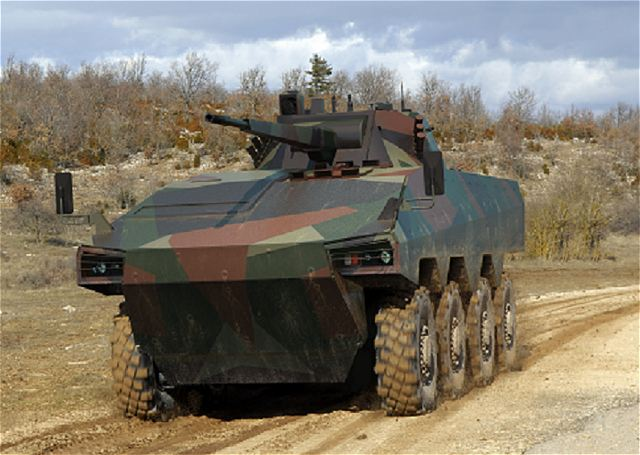 Uralvagonzavod (UVZ) and Renault Trucks Defense have combined their know-how to offer potential customers the ATOM 8x8 armoured infantry fighting vehicle which is being presented for the first time at the Russian Expo Arms 2013 exhibit in Nijni Taguil.