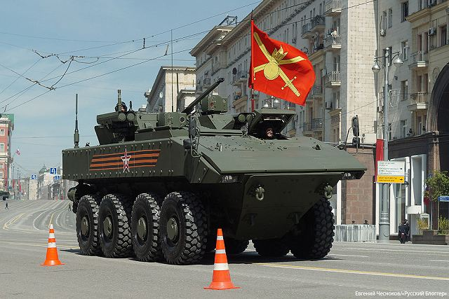 Boomerang BTR wheeled 8x8 armoured vehicle personnel carrier Russia Russian defence industry military equipment 640 003