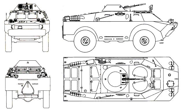 BRDM-2 4x4 reconnaissance armoured vehicle technical data sheet specifications information description pictures photos images video intelligence identification Russia Russian army defence industry military technology
