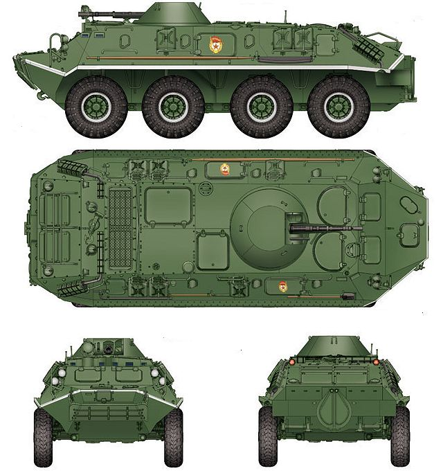 BTR-60PB 8x8 armoured vehicle personnel carrier technical data sheet specifications information description pictures photos images video intelligence identification Russia Russian army defence industry military technology
