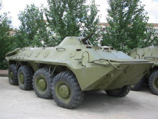 BTR-70 8x8 armoured vehicle personnel carrier technical data sheet specifications information description pictures photos images video intelligence identification Russia Russian army defence industry military technology equipment