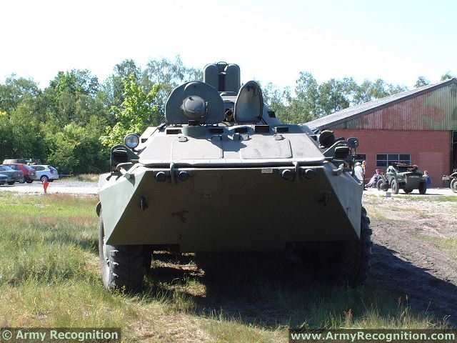 BTR-70 8x8 wheeled APC armored vehicle personnel carrier data
