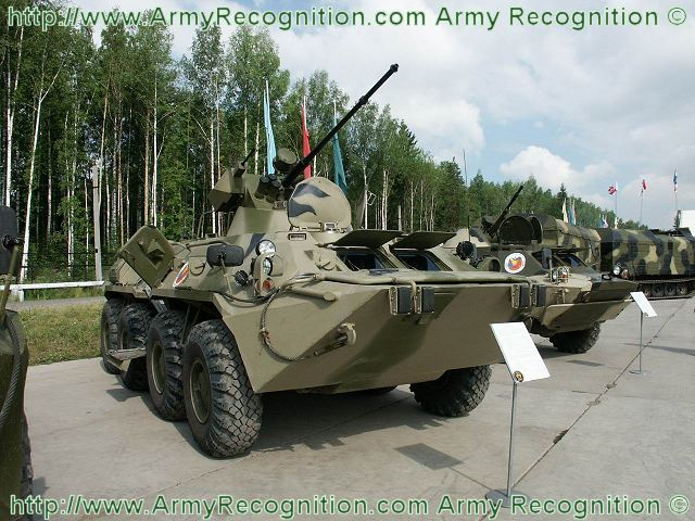BTR-80A armoured vehicle personnel carrier technical data sheet specifications information description pictures photos images intelligence identification intelligence Russia Russian army defence industry military technology