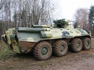 BTR-82A armoured infantry fighting vehicle technical data sheet specifications information description pictures photos images intelligence identification intelligence Russia Russian army defence industry military technology Arzamas Engineering Plant