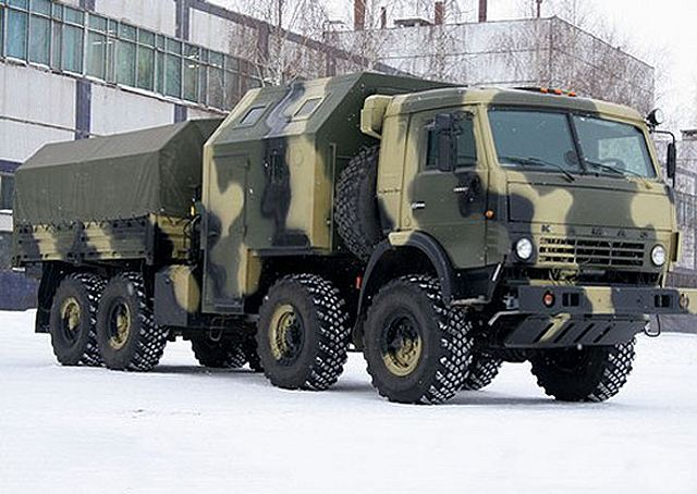 A new artillery tractor truck Kamaz 6350 8x8 enters in service in ...