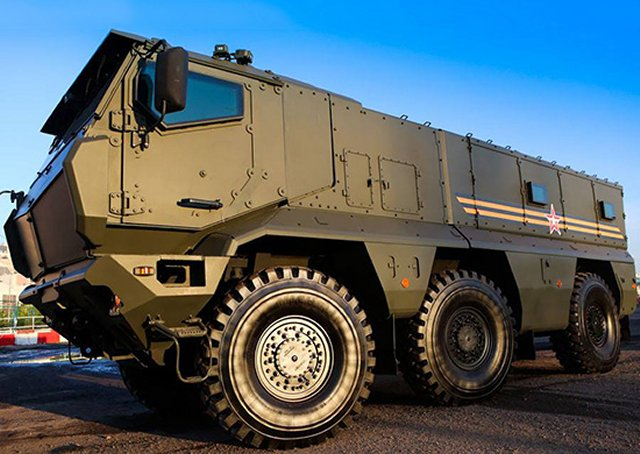 Kamaz-63968 typhoon multi-purpose 6x6 armoured truck Russia Russian defence industry military technology top 640 001