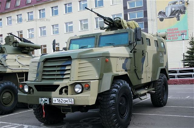 Russian-made SPM-3 MEDVED MRAP 4x4 armoured vehicle