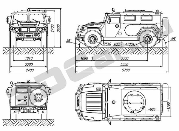 Tigr GAZ-2330 Military-Industrial Company technical data sheet specifications information description wheeled armoured vehicle personnel carrier pictures photos images identification intelligence Russia Russian army BMK