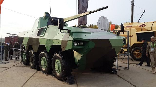 "Defense Company of France Nexter and Russian Company Joint Stock Company Central Research Institute ""BUREVESTNIK"" unveil a new generation of 8x8 armoured vehicle armed with a 57mm automatic gun at the RAE 2013 (Russian Arms Expo), a defense exhibition currently taking place in Nizhny Tagil, Russia."