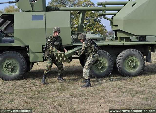 M09 105mm 6x6 armoured truck-mounted howitzer data pictures