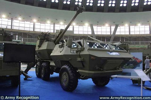 Self-propelled rapid response truck-mounted weapon (SOKO) is D-30J gun howitzer cal. 122 mm in the form of a turret mounted on the chassis of a robust 6x6 heavy duty vehicle.