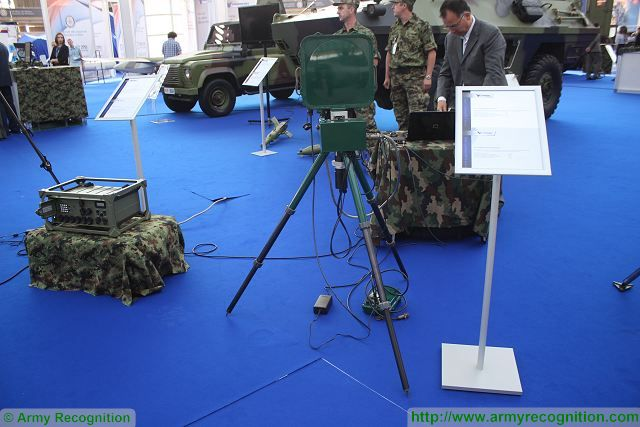 PR-15 portable ground surveillance radar Partner 2015 defense exhibition Belgrade Serbia 640 001