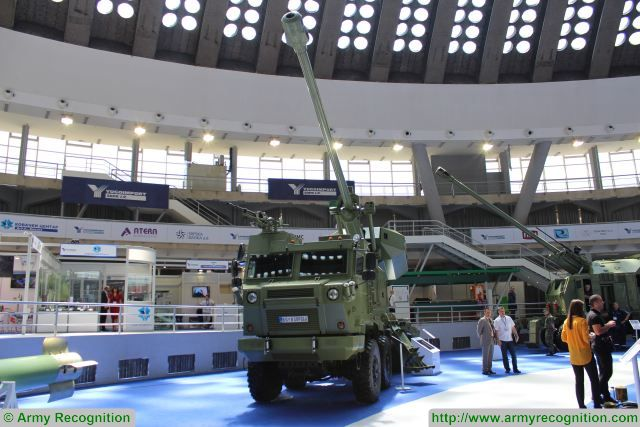 World premiere at Partner 2017, for the new Aleksandar 155mm self-propelled howitzer with full automatic loading system. The vehicle is based on the NORA B-52 family which is fully designed and manufactured in Serbia by the State Company Yugoimport.