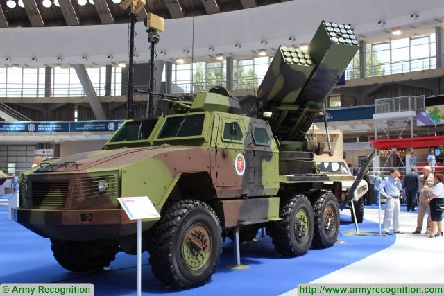 At Partner 2017, the International fair of armament and defense equipment in Belgrade, the Serbian Company has unveiled a new generation of Oganj multi-barrel rocket launcher system (MLRS). The previous version, M-77 128 Oganj was developed in the early 1970s to meet the requirements of the Yugoslav Army.