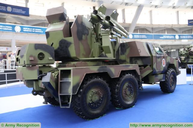 The PASARS, new short-range air defense systems unveiled by the Serbian State Company Yugoimport at Partner 2017, the International fair of armament and defense equipment in Belgrade, Serbia.