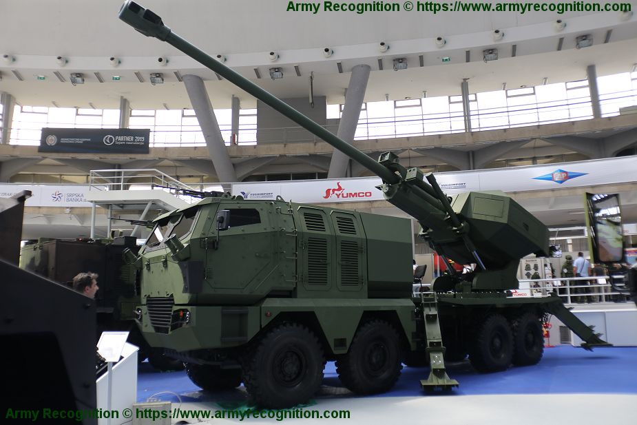 Aleksandar 155mm self propelled howitzer based on 8x8 MAN truck chassis Partner 2019 925 001