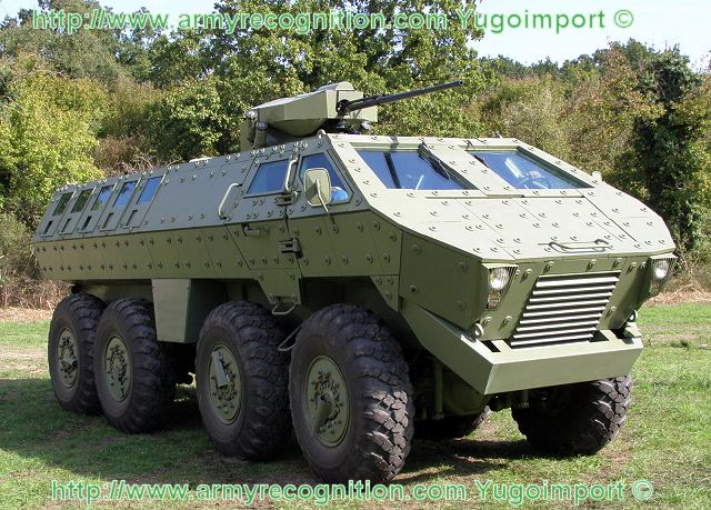 Lazar MRAP Mine Resistant Ambush Protected 8x8 armored Vehicle