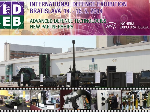 IDEB 2014 pictures video photos images international defence exhibition Bratislava Slovakia Slovak Republic defense industry military technology army