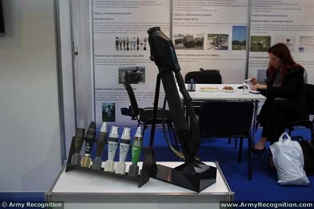 At IDEB 2014, the International Defence Exhibition in Slovakia, the Czech Military Technical Institute VTU presents the 60mm Ultralight Commando Mortar ANTOS which is especially designed to be used as light hand gun fire support for paratroops and special forces.