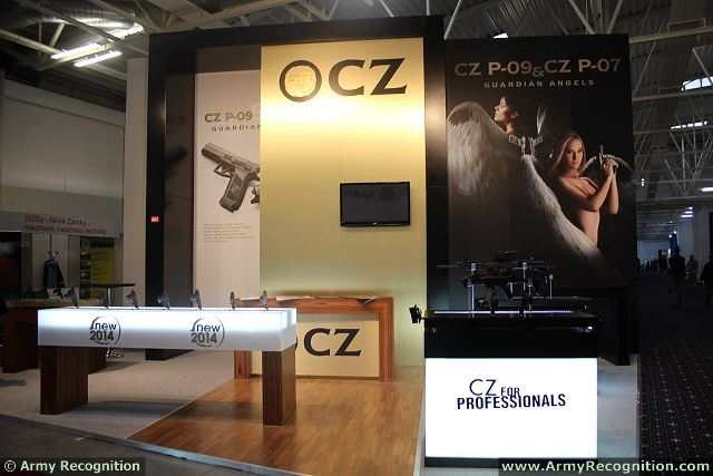 The Czech small arms manufacturer CZ presents its new range of pitsol at IDEB 2014, the International Defence Exhibition of Bratislava, with the CZ P-09 standard pistol and the CZ P-07 compact pistol. The CZ P-09 is a modern pistol of a standard size, from the outset conceived as a service weapon of a member of armed forces.