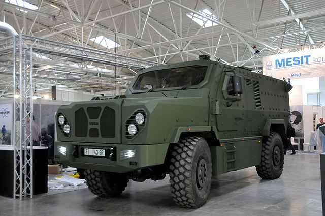 At IDEB 204, the International Defence Exhibition in Slovakia, the Czech Company SVO unveils the latest generation of its VEGA 4x4 (Vehicle with Enhanced Ground performance and Armour protection) personnel carrier. SVOS Company was founded in 1992. Company is historically the first manufacturer of the armoured vehicles of the Czech Republic.
