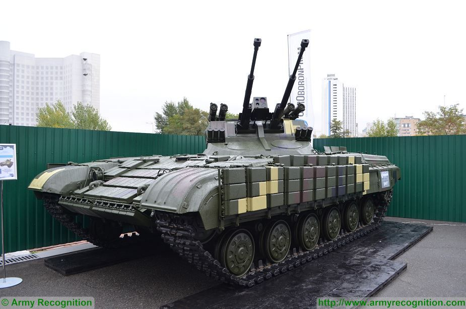 Strazh new Ukrainian BMPT fire support vehicle based on T 64 MBT tank Arms and Security 2017 Ukraine 925 004